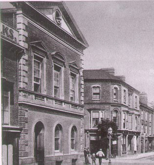 Old photograph of Crediton Town Hall