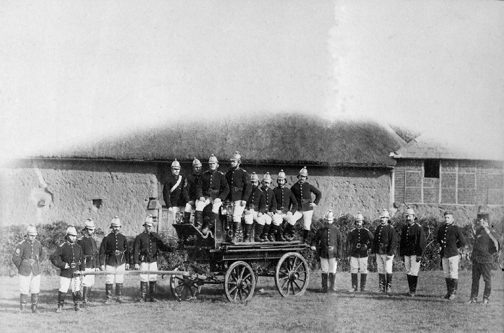 Historic photograph of a team of firemen