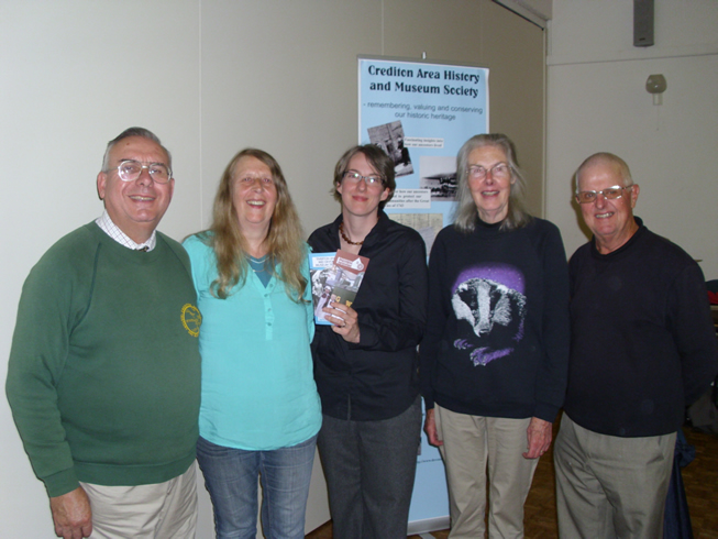 Photograph of George Palin, Sandy Houghton, Pippa Griffith, Judy Tucker and John Moore