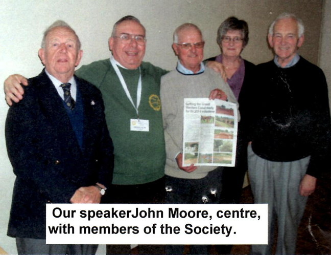 John Moore with members of the society
